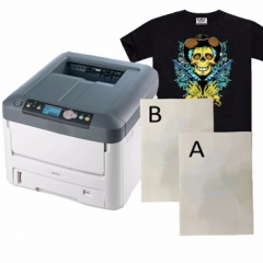 Dark self-weeding laser transfer paper A+B paper