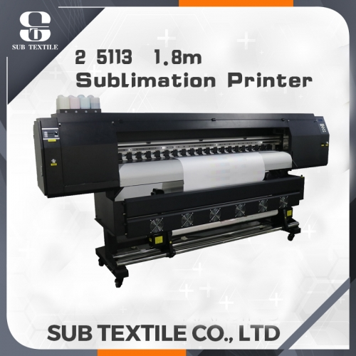 1.8m sublimation digital printer with 2 5113 printer head
