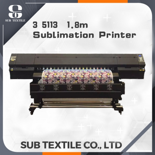 1.8m sublimation digital printer with 3 5113 printer head